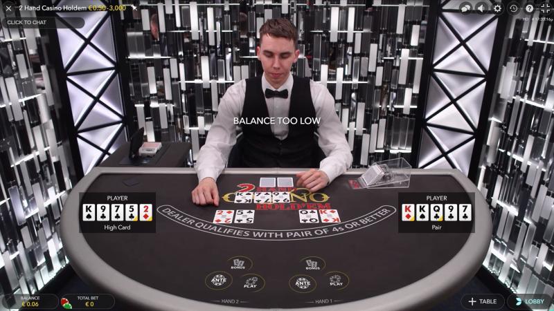 Live 2 Hand Casino Holdem